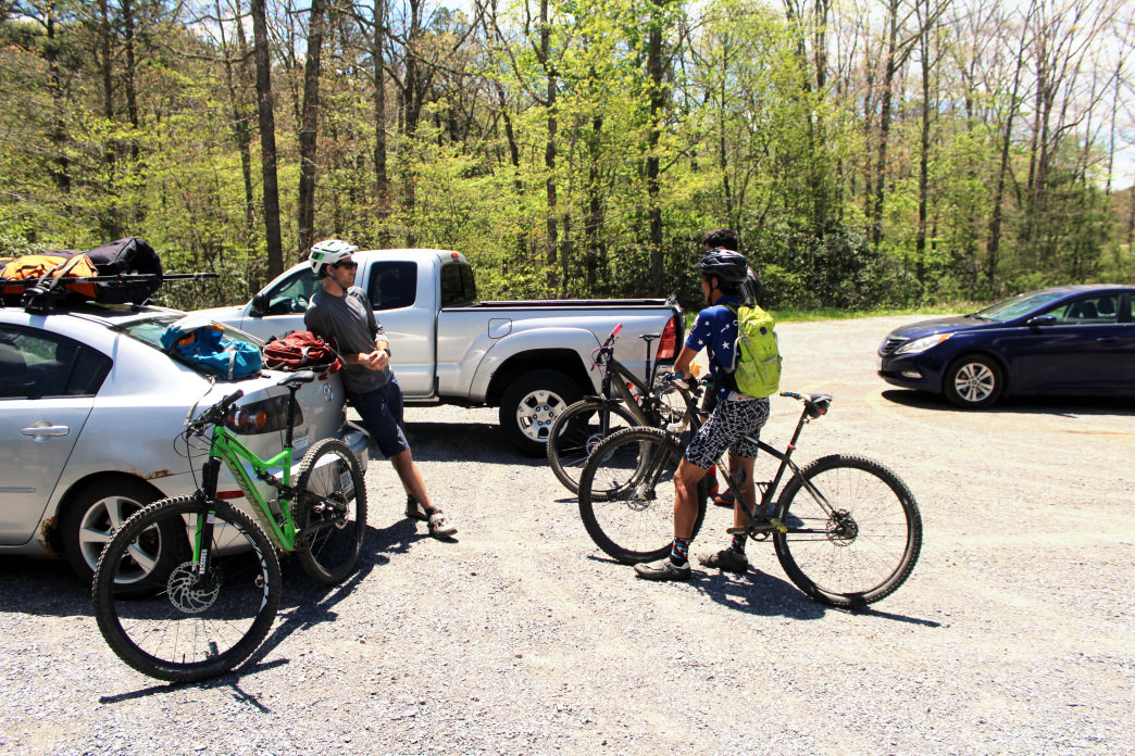 At the trailhead for Pandapas Pond, just north of Blacksburg, Va.</p> <p>    Dylan Jones