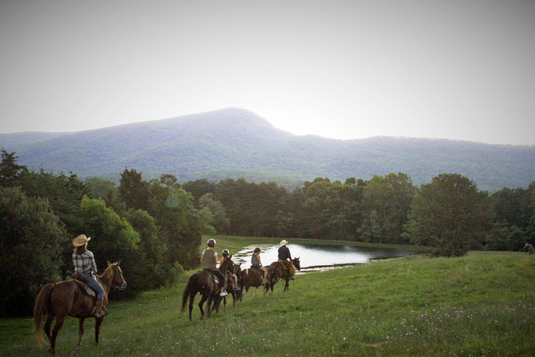 There's nothing quite as peaceful as a horseback ride through the scenic Shenandoah Valley.