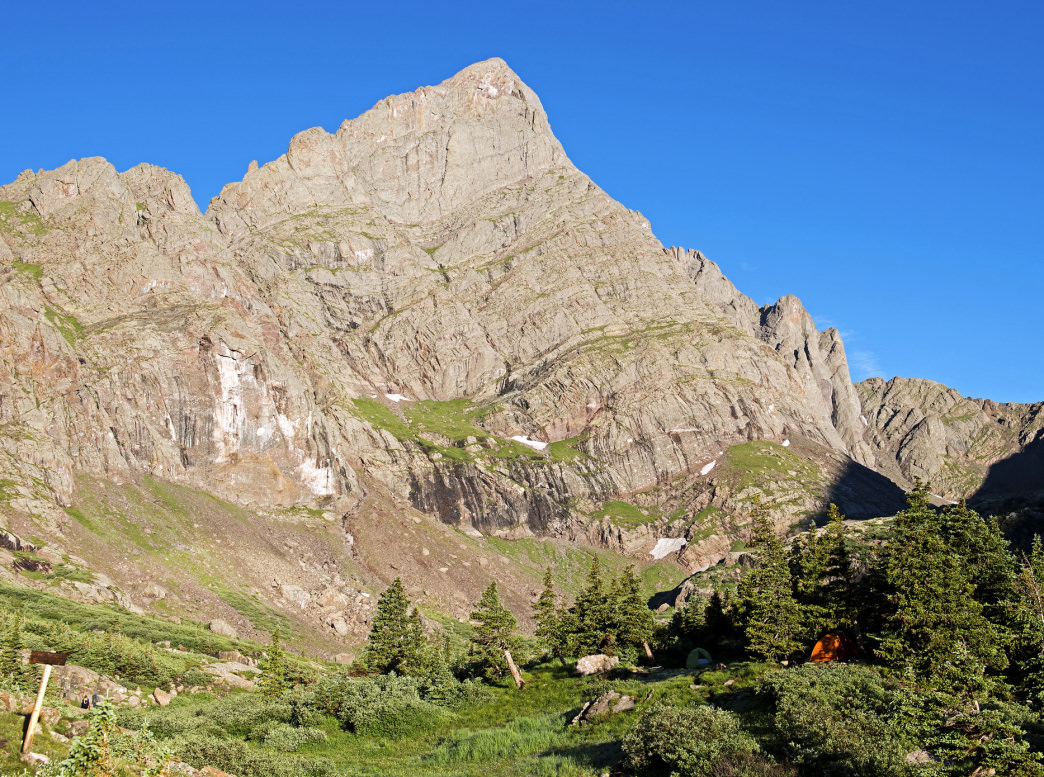 The Cottonwood Creek Trail affords access to Crestone Peak, Crestone Needle (pictured), and countless other adventures.