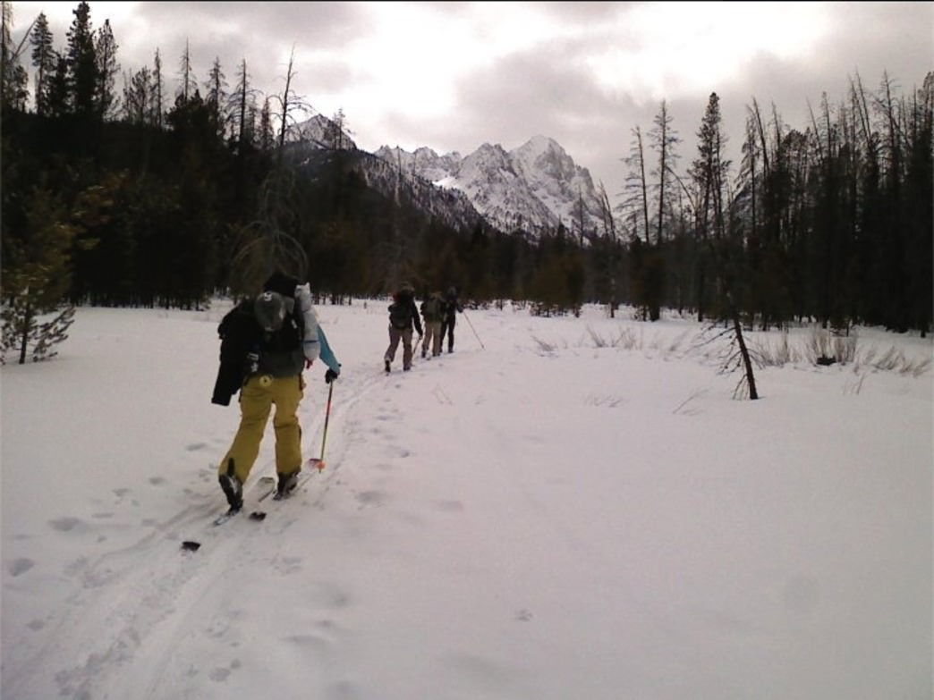 Approaching the Sawtooth Hut system