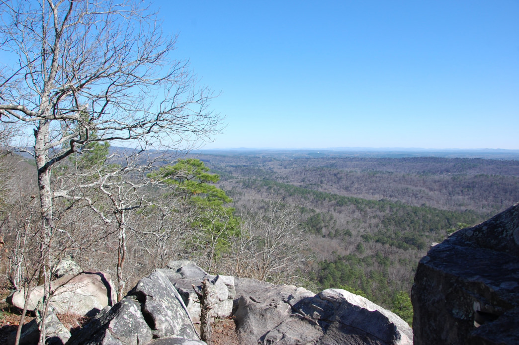 A bird's-eye view from the Kings Chair outcrop. — Marcus Woolf