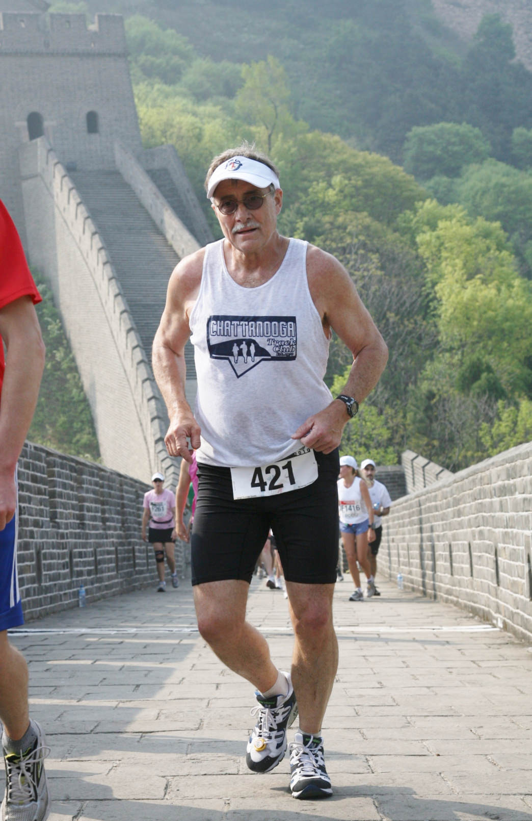Smith running on the Great Wall of China.     Truman Smith