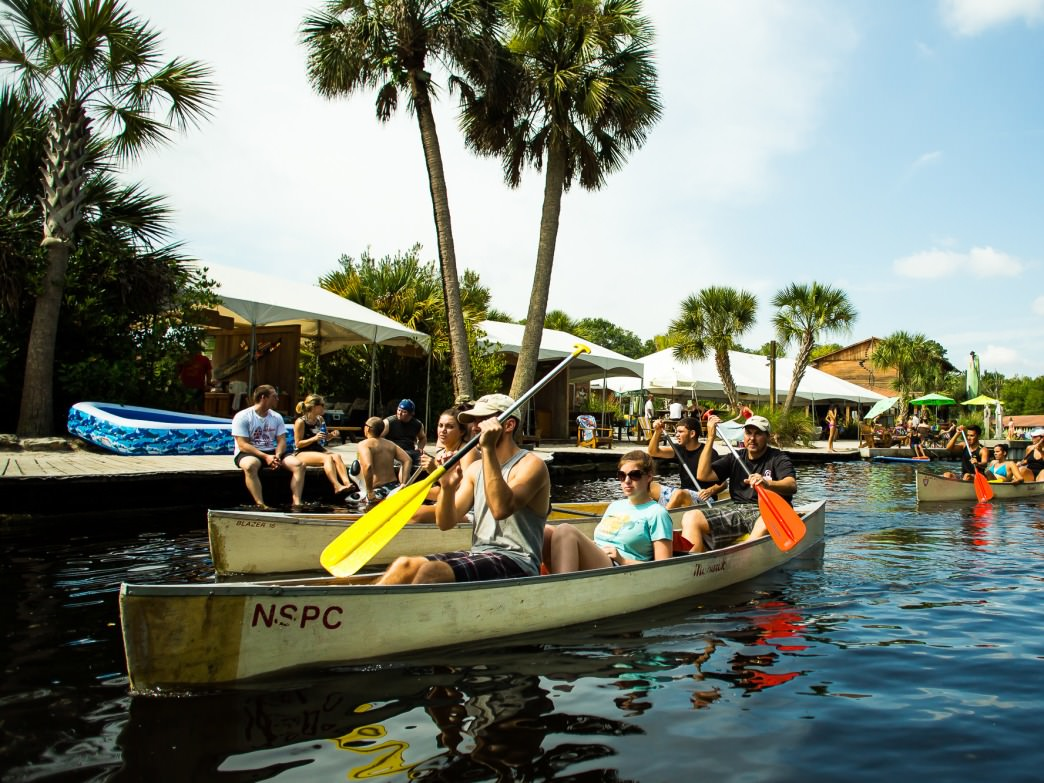 Wekiva Island offers paddling trips and other outdoor activities—and is also a great place to enjoy a drink.