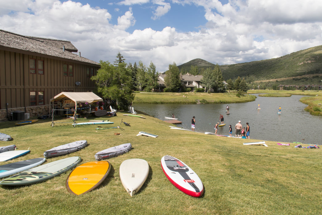 Learning to paddleboard is a great new way to get your waterbabies out on the lake.