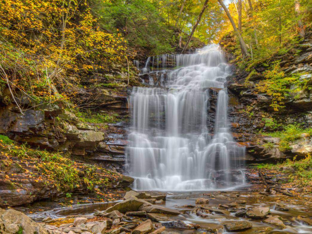 Ricketts Glen State Park features 24 named waterfalls.