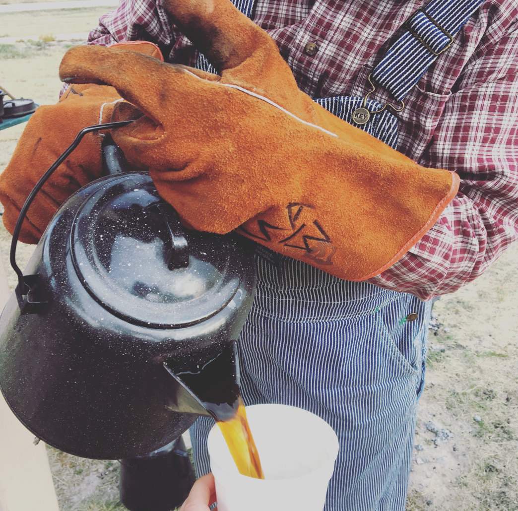 Start your morning in Nebraska with a hot mug of cowboy coffee.