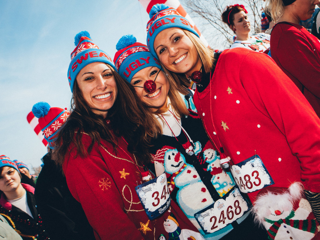 The Ugly Sweater Run brings a big crowd to Soldier Field to celebrate the season.