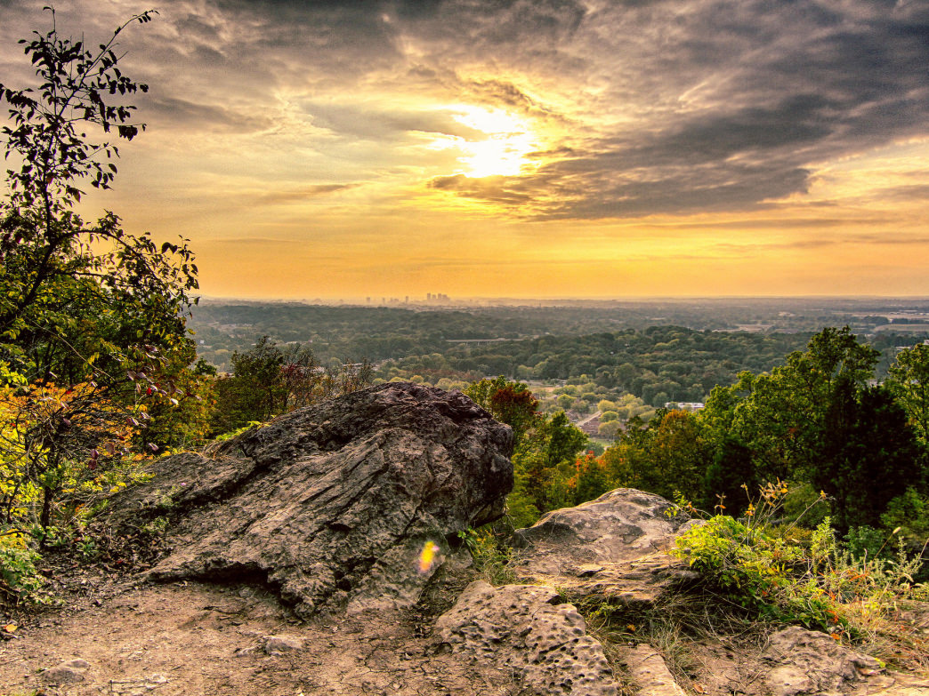 Ruffner Mountain hosts some of the best sunsets in and around Birmingham.