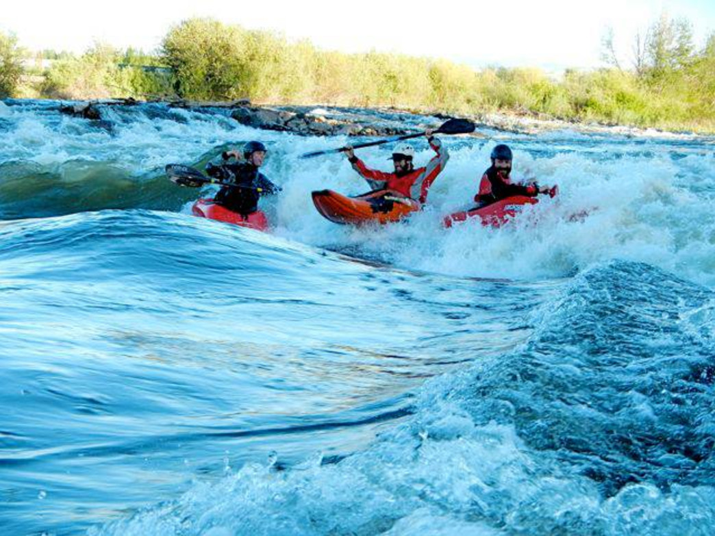 Colorado whitewater parks, like this one in Gunnison, are enjoying high flows this year.