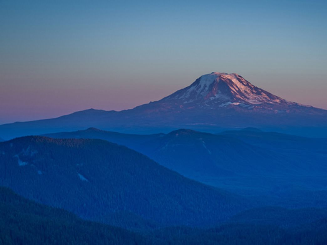 The Bigfoot 200 travels from Mount St. Helens to Mount Adams (pictured here).