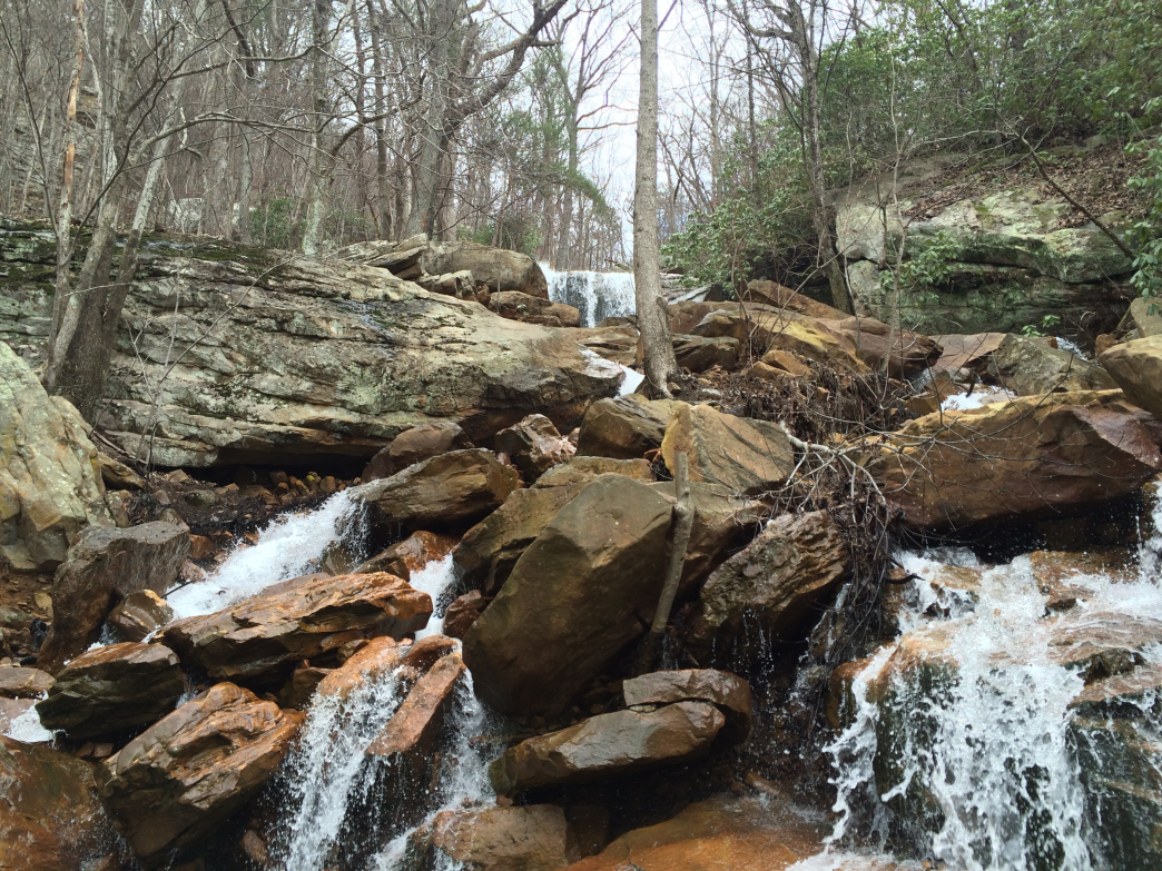 Unexpected falls may pop up along the trail depending on recent rainfall