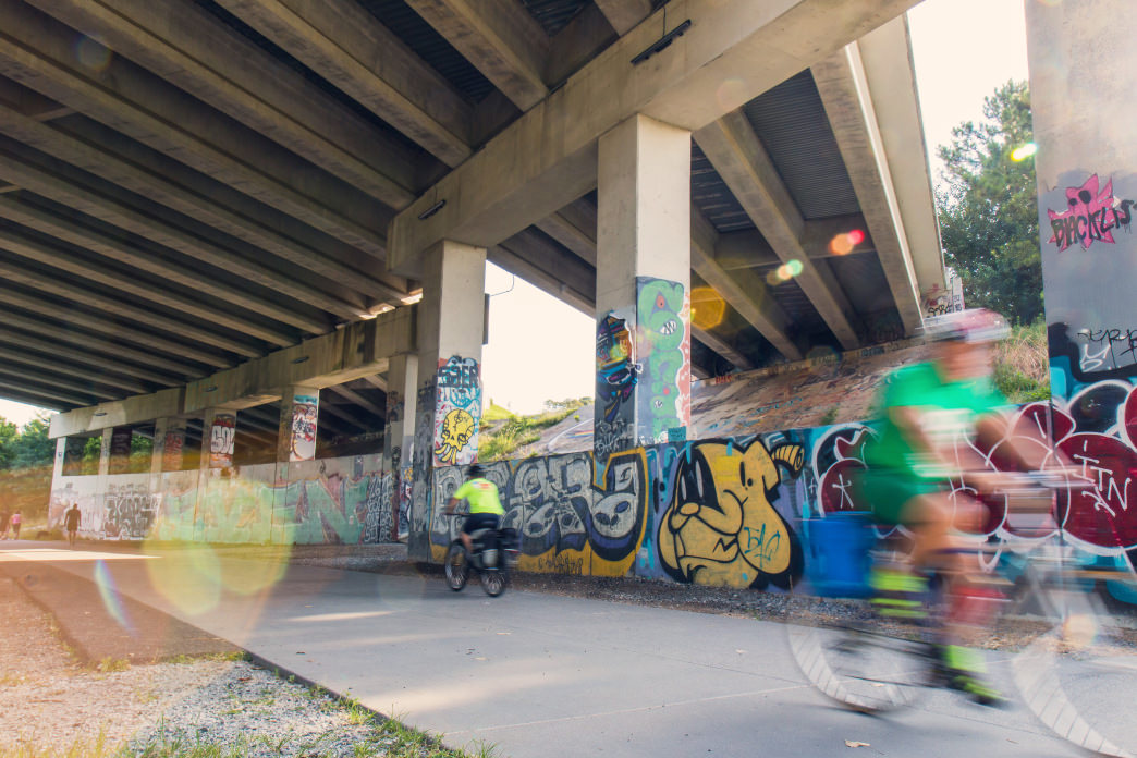 The popular BeltLine path allows Atlanta cyclists to get around the city easily.