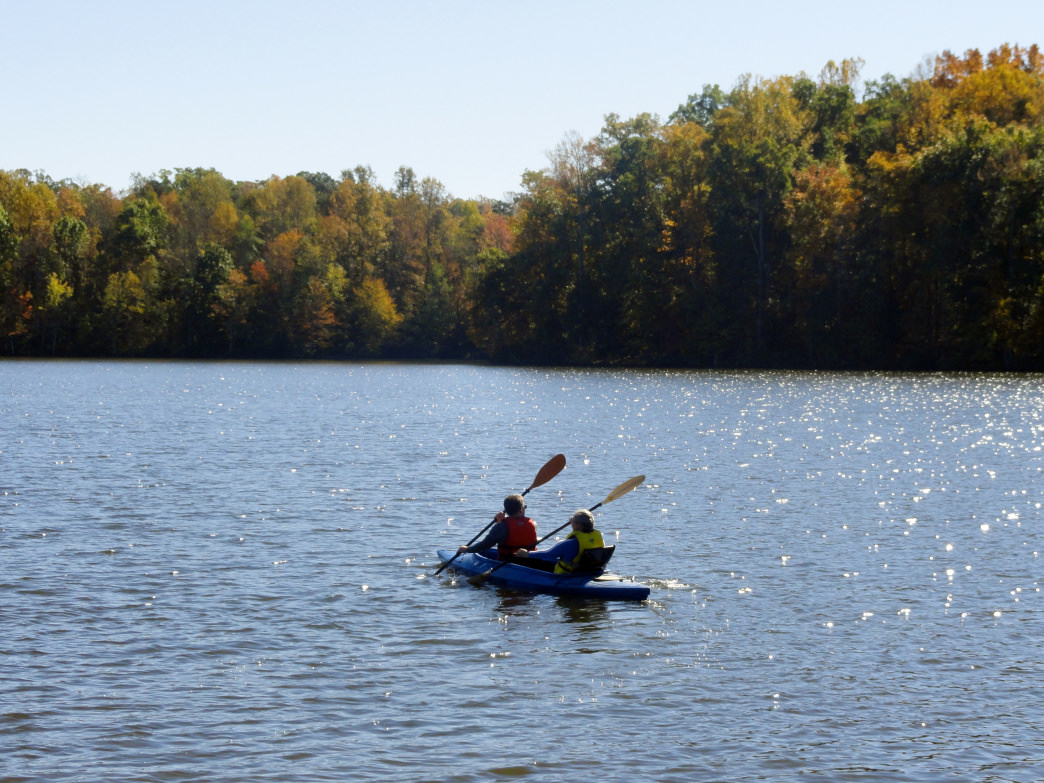 Lake Higgins is ideal for kayaking, SUP, and canoeing. Melissa Wilkins