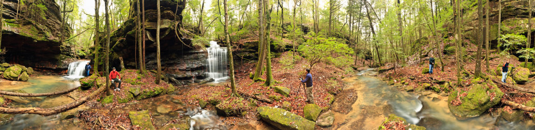 Skull Falls, in the Sipsey Wilderness, is another of the waterfall stops along the Alabama Trail.