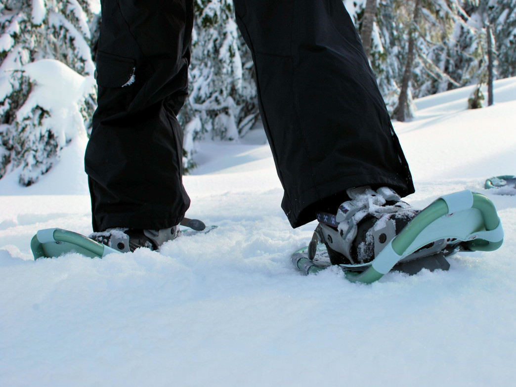 Getting the right gear is the first step for a snowshoeing adventure.