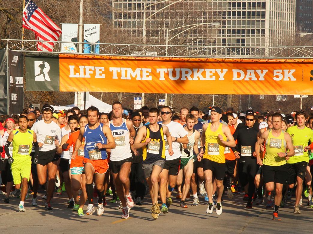 The Turkey Day 5K in Chicago features a Lakefront course in Lincoln Park.