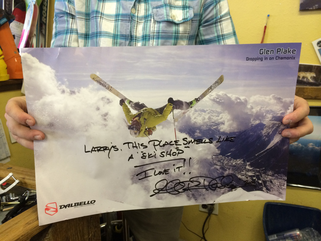 Legendary freeskier Glen Plake says Larry's place smells like a ski shop