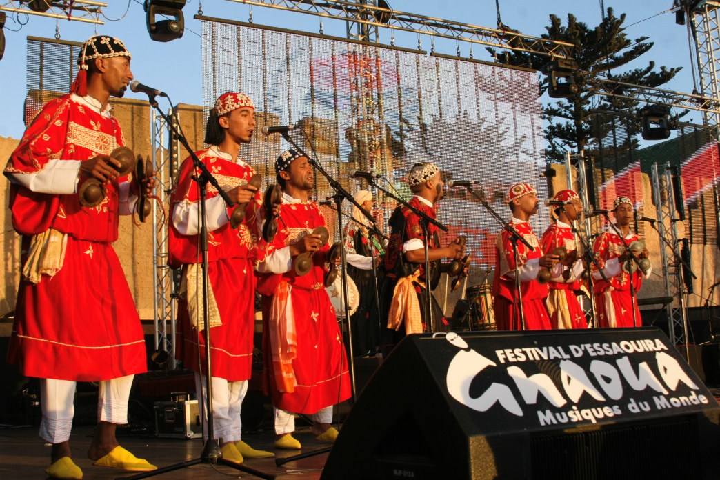 Musicians perform in the Gnauoua Music Festival, which celebrates traditional music and culture of West Africa.