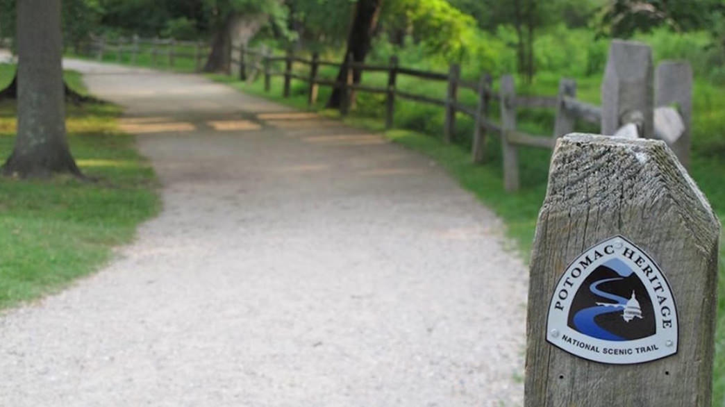 You can hike, bike, or paddle along the Potomac Heritage National Scenic Trail.