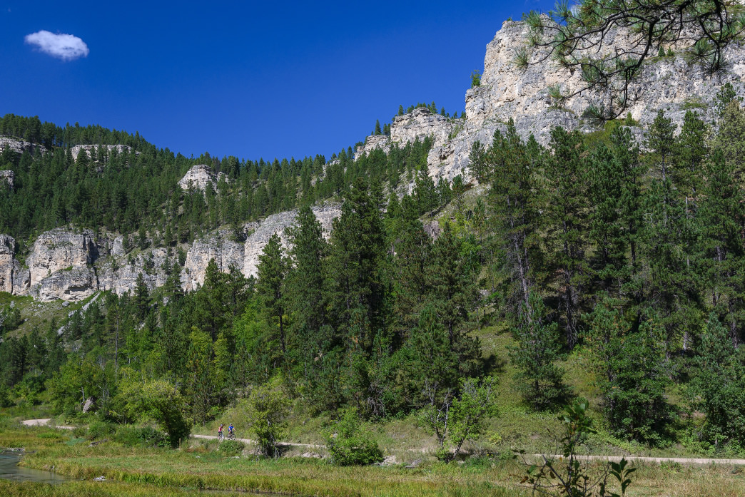 There are more than 600 established sport routes at Spearfish Canyon.