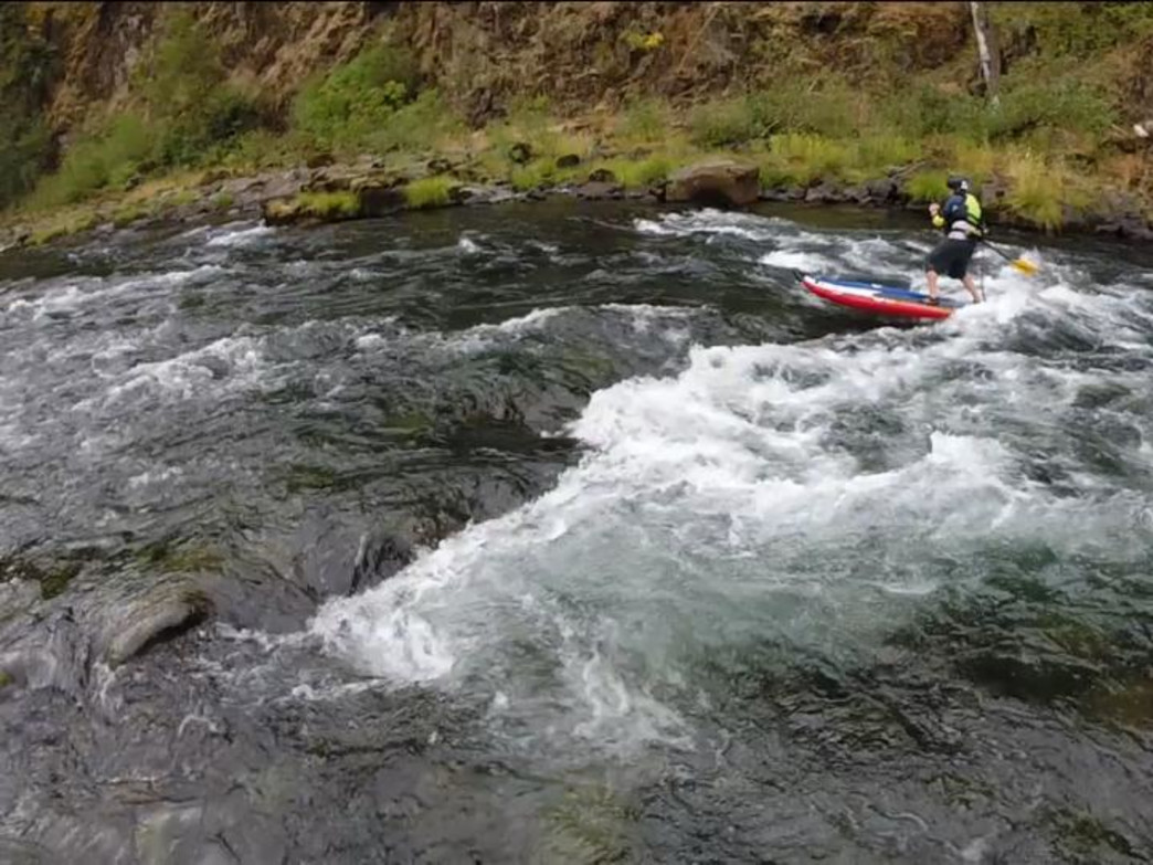 The Clackamas River, not far from Portland, is a popular whitewater SUP destination.