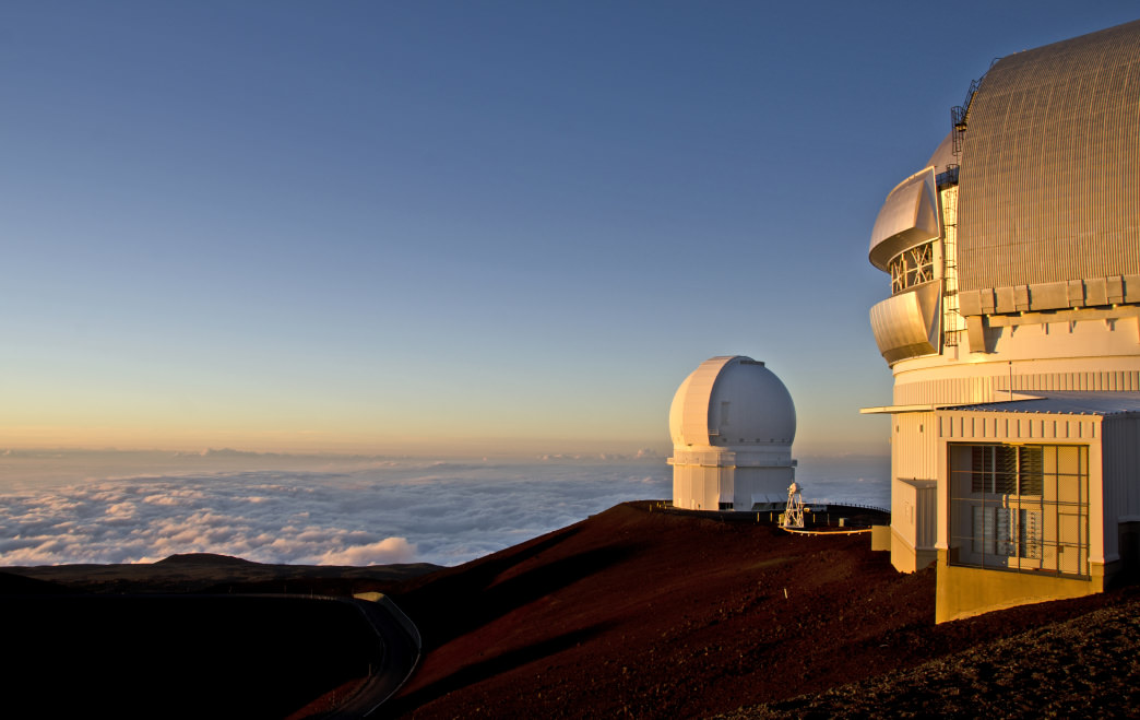 The summit of Mauna Kea is home to several observatories.