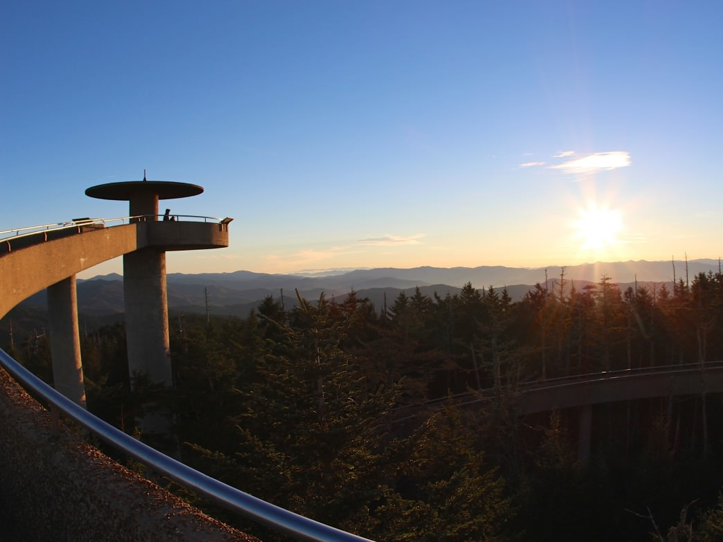 The view from Clingmans Dome is one of the best around.