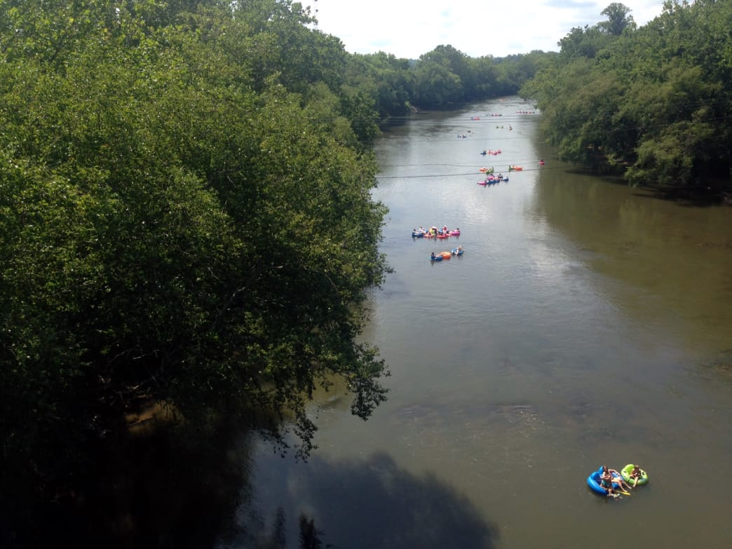 The French Broad from above.