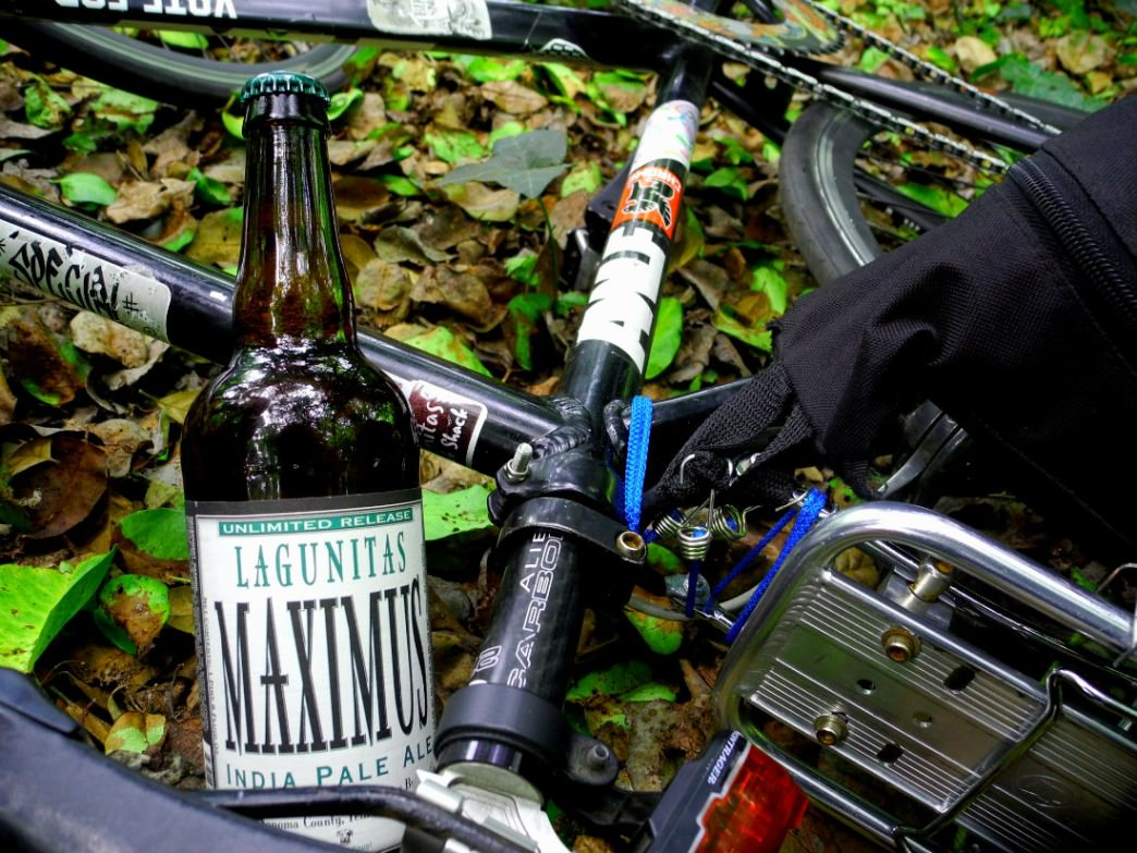 Lagunitas beer and bikes are a natural fit (though we recommend riding first).