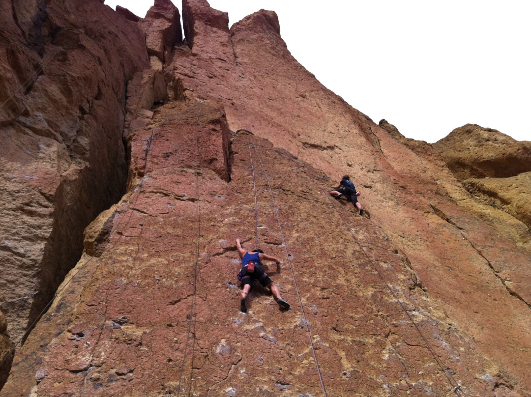 Parallel climbs at Oregon's famous Smith Rock.