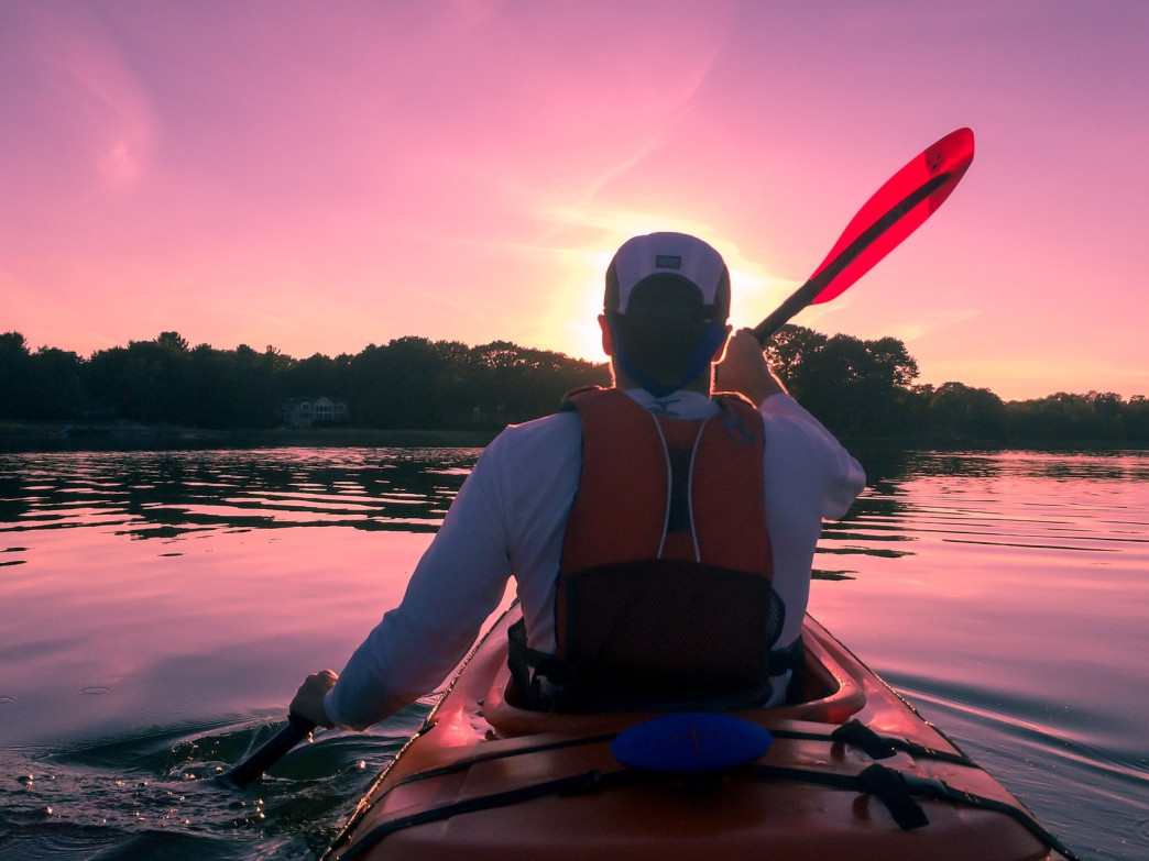 Longer days are perfect for sunset paddles.