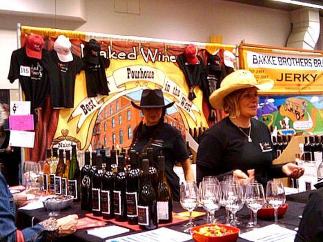 A wine booth at the festival