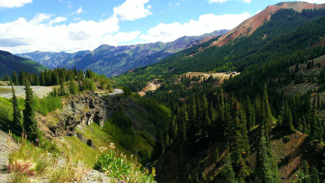 The drive on the Million Dollar Highway is best done after the snow has melted.