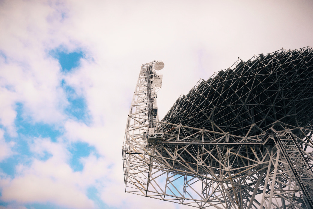 The towering telescope weighs a whopping 8,500 tons.     Ricky Montalvo