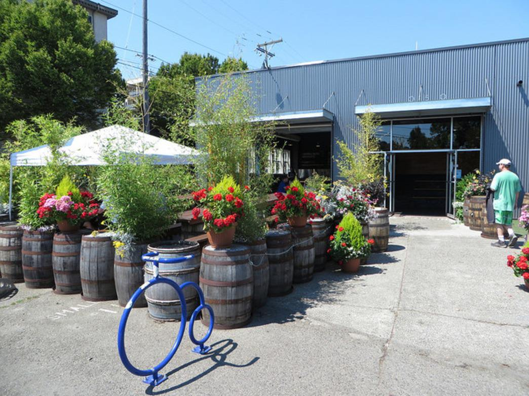 The charming entrance to Fremont Brewery