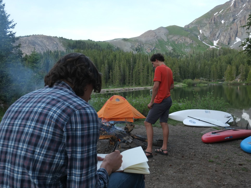 The RootsRated CEO brainstorming his favorite RR stories at Telluride's Alta Lakes