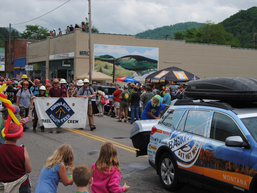 Hiker Parade at Trail Days 2011.