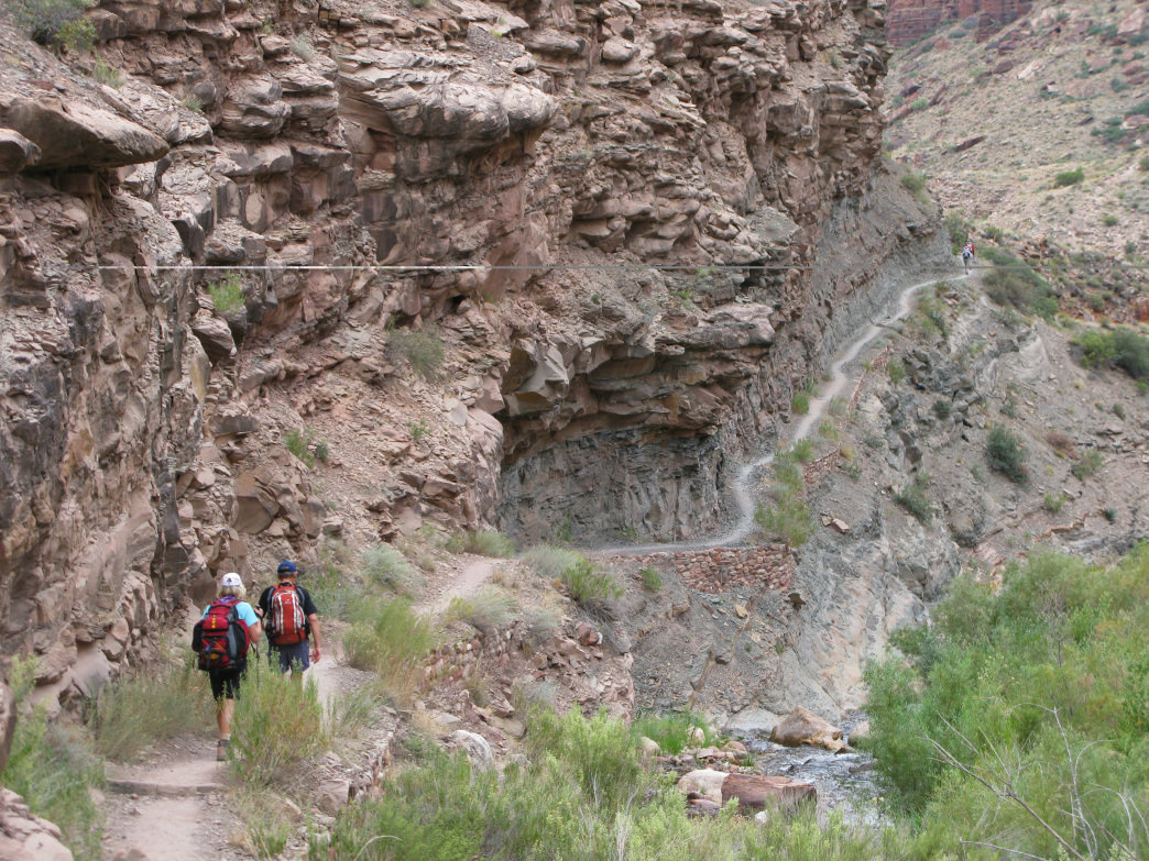 Even a short hike down the Grand Canyon trails will separate you from the herds of tourists.&lt;br /&gt;<br />     NPS photo by Michael Quinn