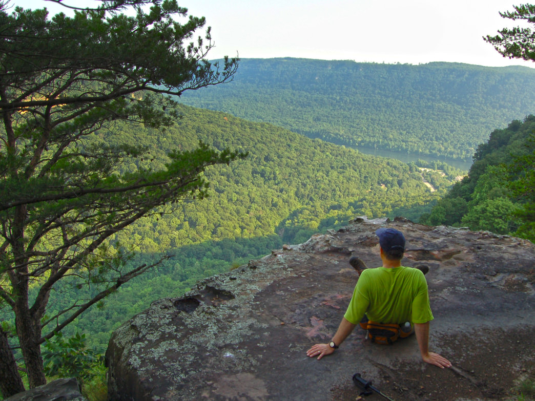 The Poplar Spring section of the Cumberland Trail isn't super easy, but you'll be rewarded with views like these.