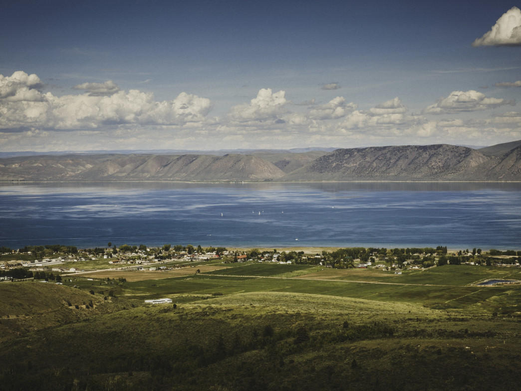 Bear Lake beyond Garden City, Utah