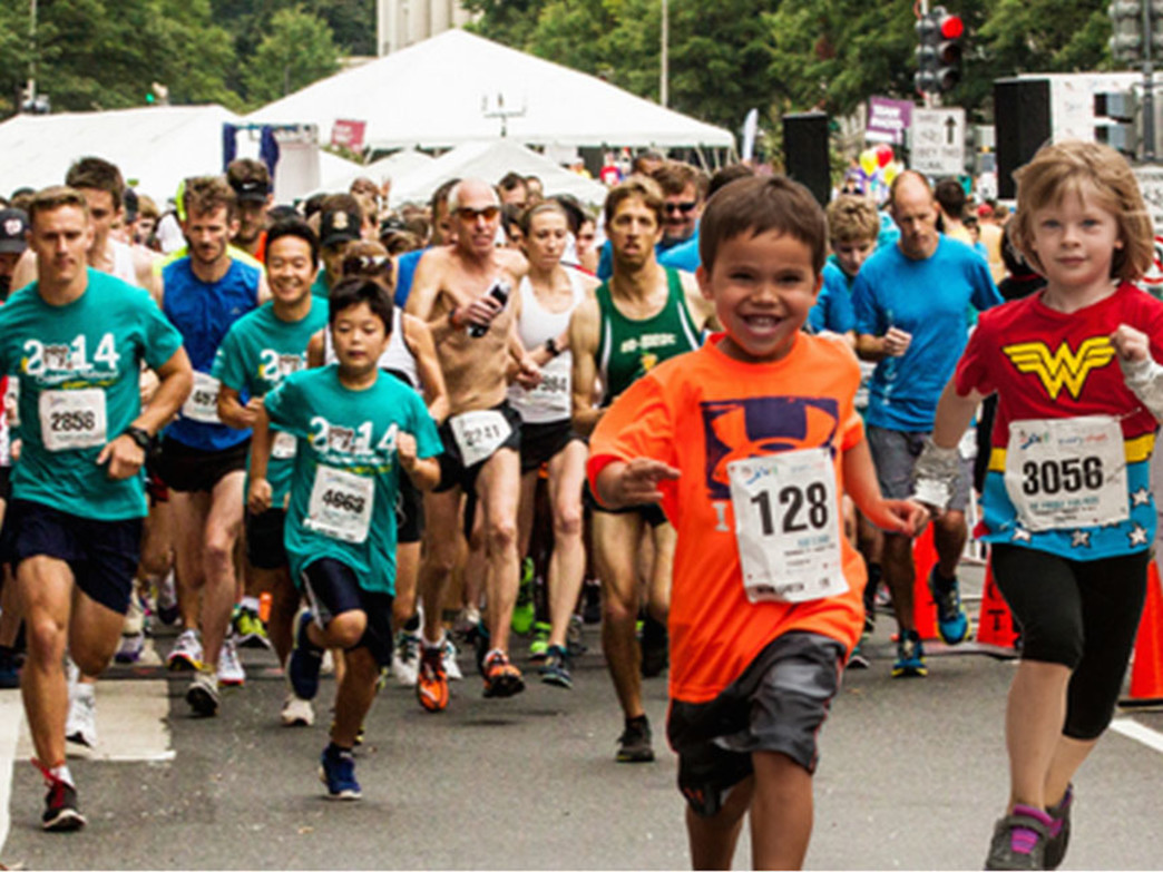 The Race for Every Child 5K and Kids' Dash kicking off in Washington, DC.