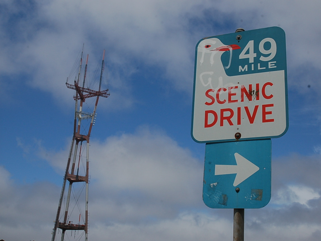 Views are aplenty along the 49-Mile Scenic Route, like Sutro Tower here.