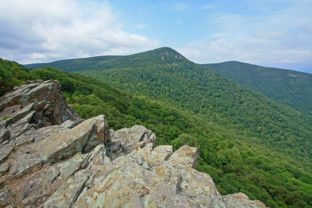 Crescent Rock Overlook view of Hawksbill Mountain in Shenandoah National Park.