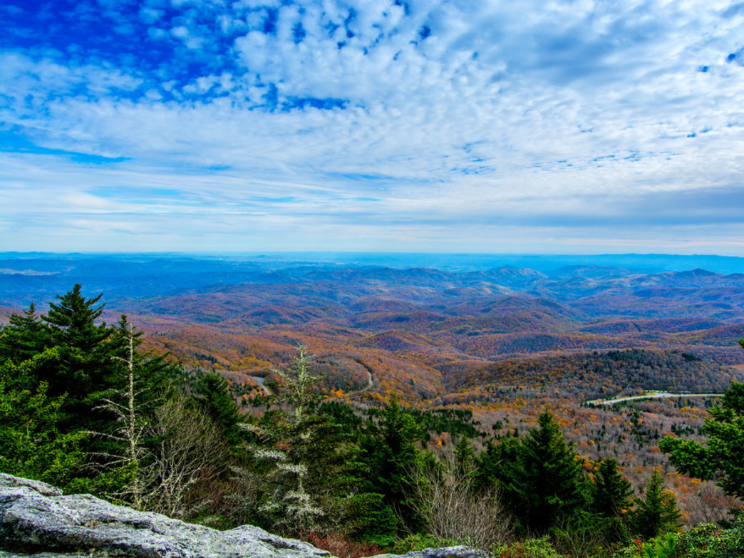 The unmatched panorama from the summit of Grandfather Mountain