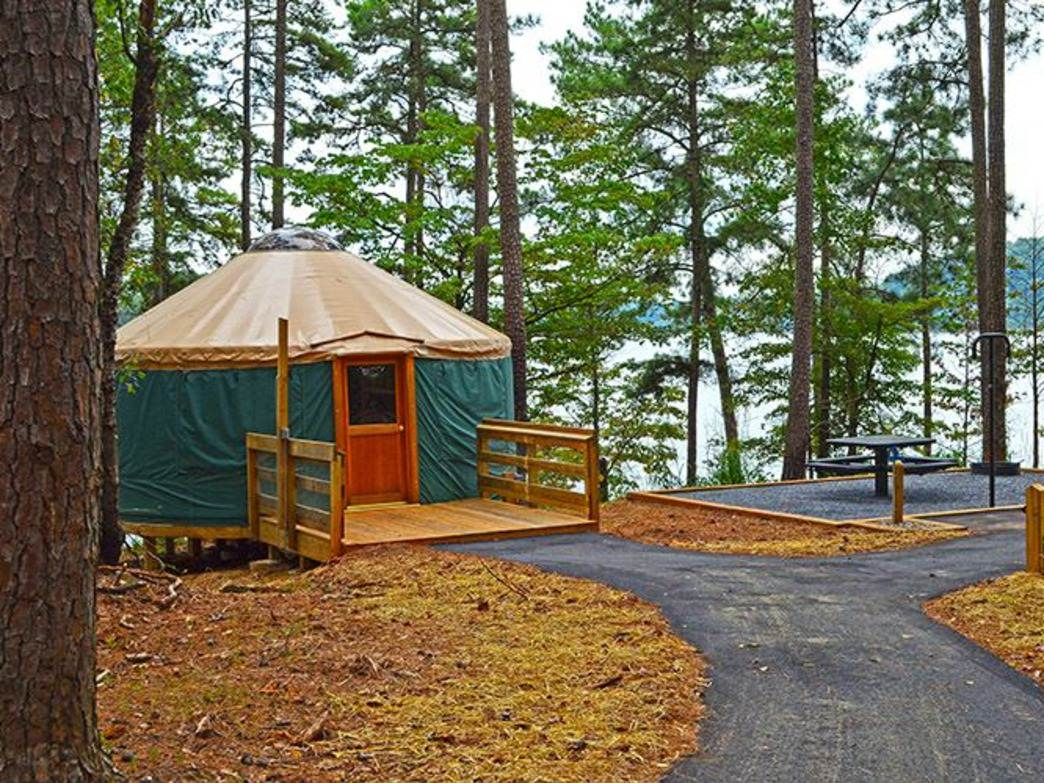 Tugaloo State Park's yurt.