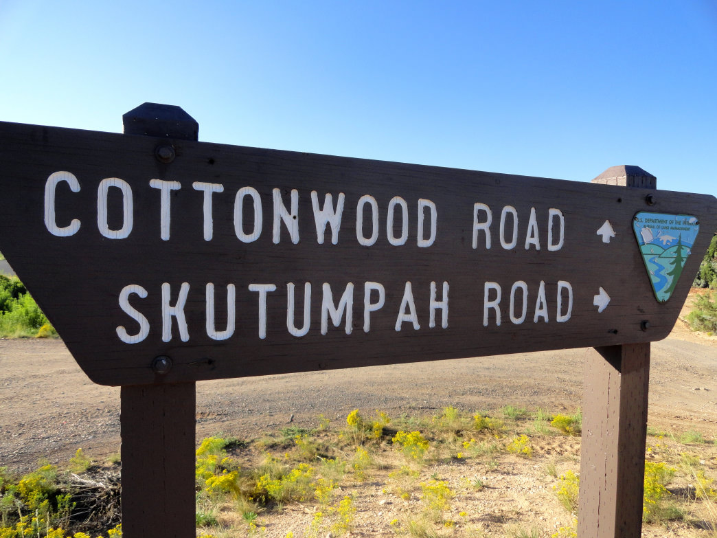 Skutumpah Road is a rough road that travels another 33 miles along the monument boundary to Kodachrome Basin State Park.