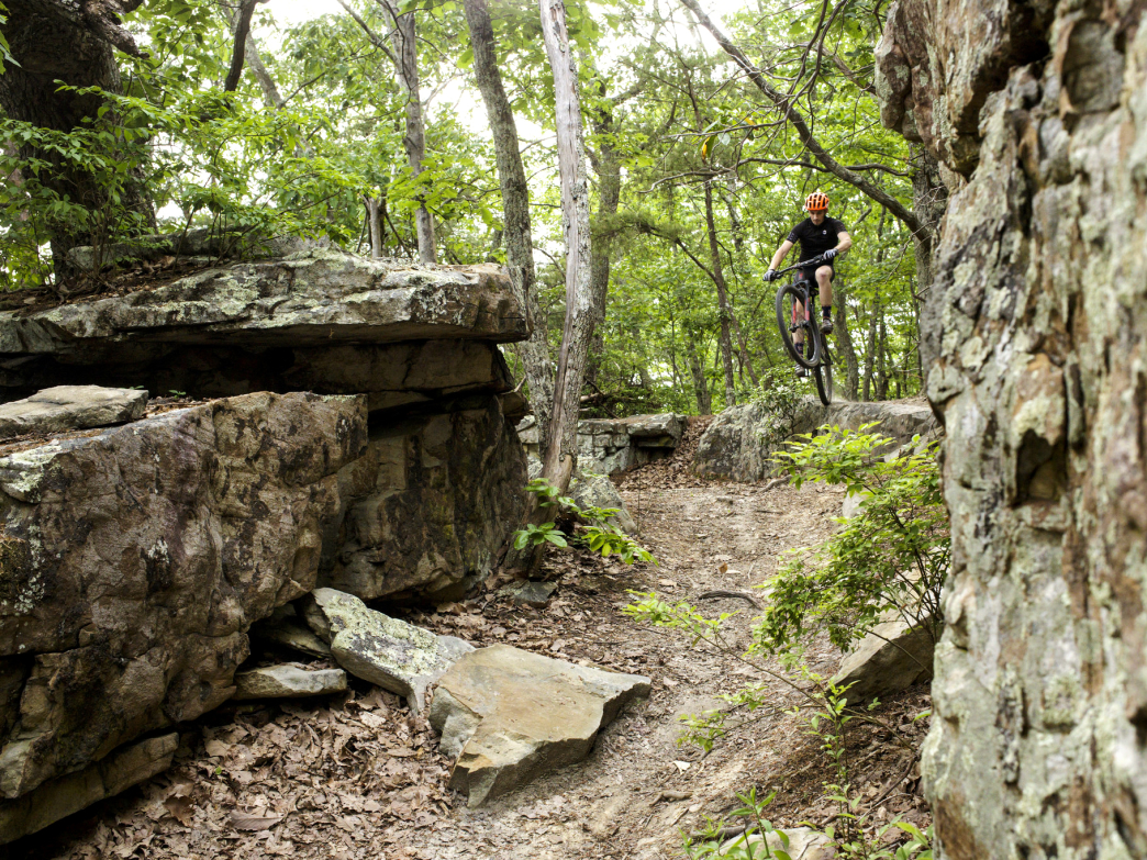 Mountain Biking on Raccoon Mountain.