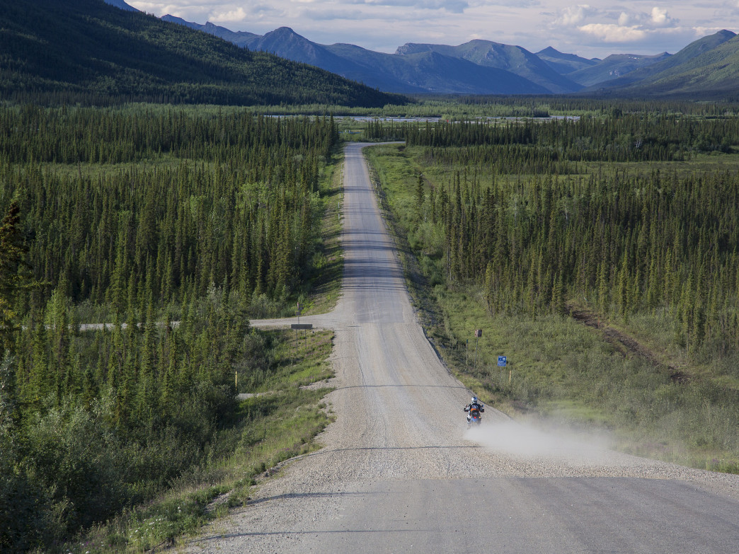 Road tripping down the Dalton Highway between Fairbanks and Prudhoe Bay.