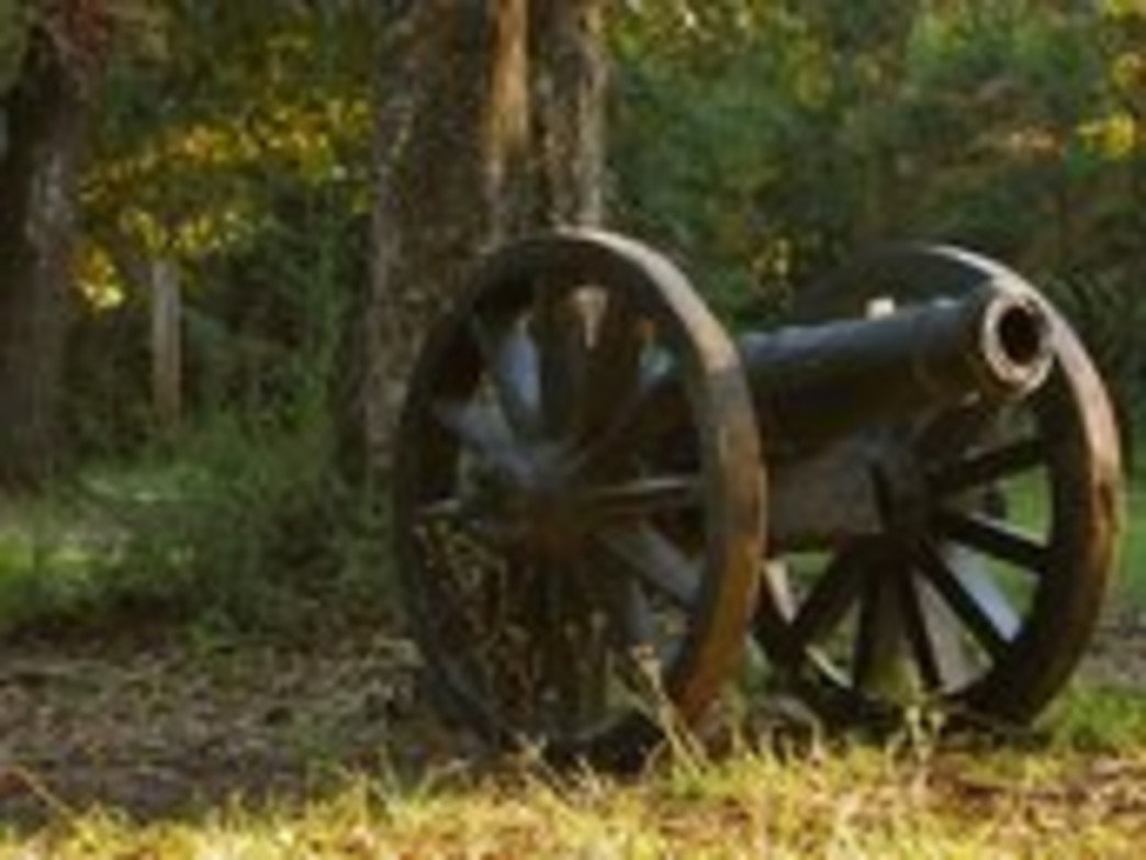 An old cannon at Historic Blakeley State Park.