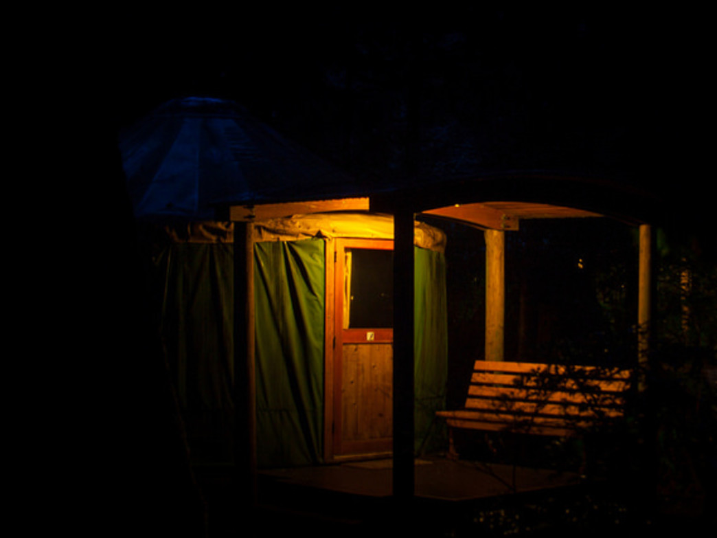 Yurts are popular alternatives to tent camping throughout Oregon. Yurts and cabins are heated, offer electricity, and come with beds.